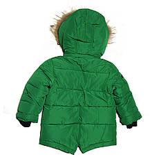 Детский зимний комбинезон для мальчика 3-4 года New Soon зеленый, фото 3