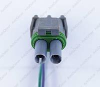 Разъем электрический 2-х контактный (14-6) б/у
