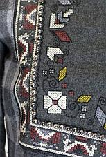 Женская клетчатая рубашка фланель с вышивкой , фото 3