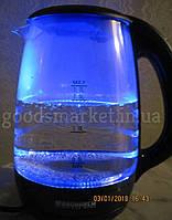 Чайник электрический стекло + LED подсветка!!! GRUNHELM EKP-1703GB