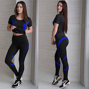 "Костюм для фитнеса футболка и лосины ""RUN"", фото 2"