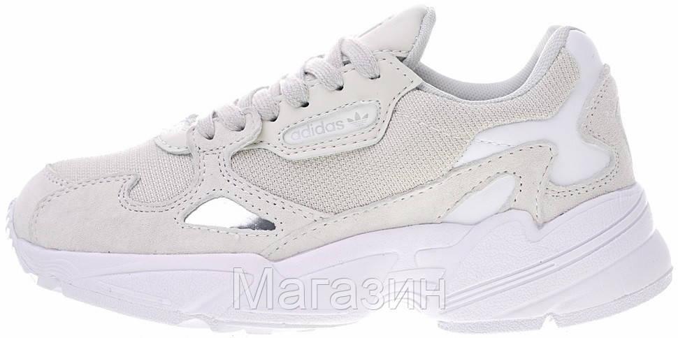 Женские кроссовки adidas Falcon White/Light Grey Адидас Фалкон белые