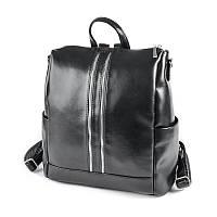 Черная сумка-рюкзак трансформер М158-Z средний женский городского типа, фото 1