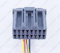 Разъем электрический 16-и контактный (25-16) б/у 10764