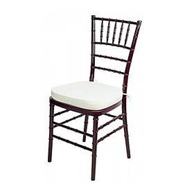 Стул Чиавари махогон, подушка белая (СДМ мебель-ТМ)