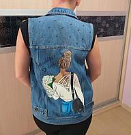 Рисунок на джинсовке по индивидуальному заказу , фото 1