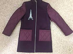Детское пальто для девочки Алиса, размеры 122-146, фото 3