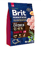 Brit premium Senior L+XL с курицей 15 кг