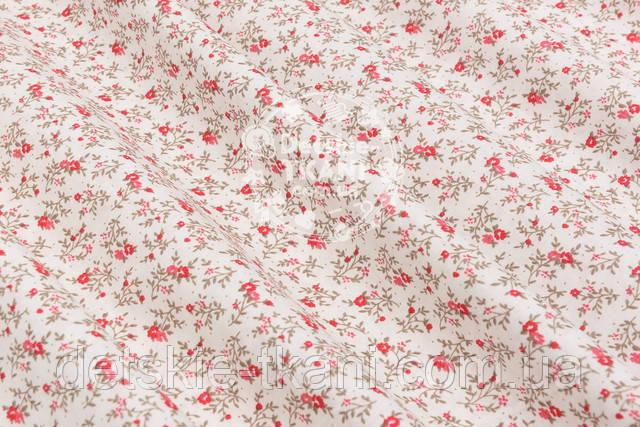 Хлопковая ткань с цветочками