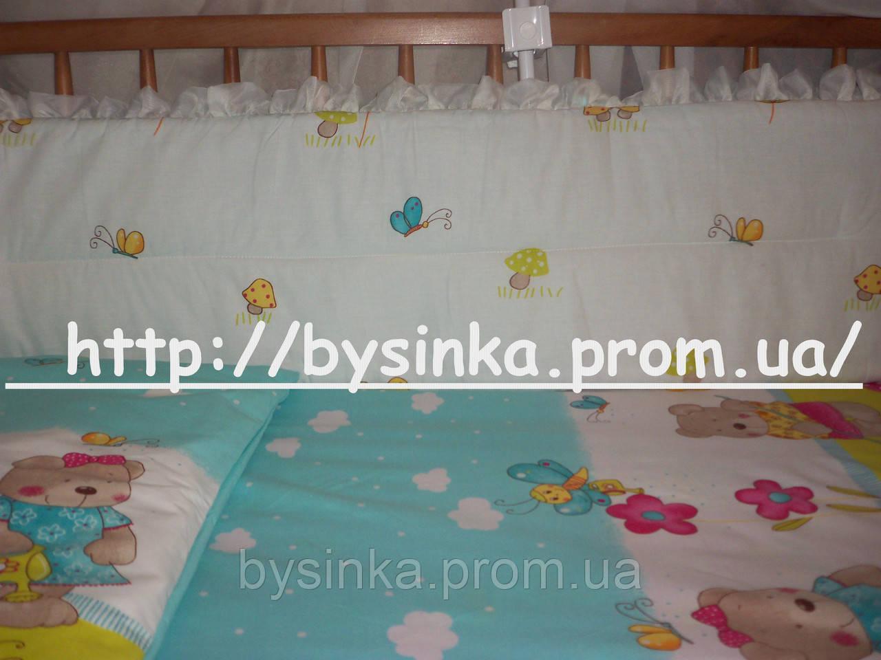 Простынь детская на резинке в кроватку -Облака