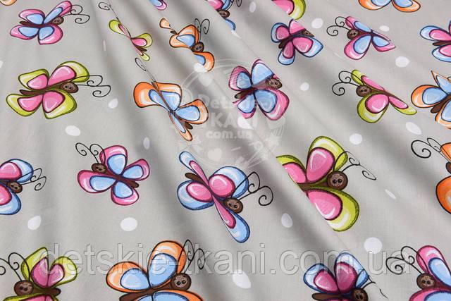 хлопковое полотно с бабочками