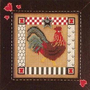 Набор для вышивки Mill Hill Folk Art Rooster (1998)