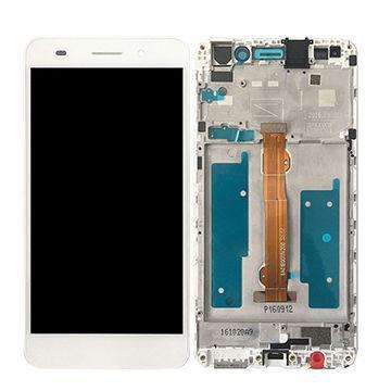 Дисплей для Huawei Y6 Pro (TIT-U02/TIT-AL00)/Enjoy 5/Honor Play 5X с тачскрином и рамкой белый Оригинал