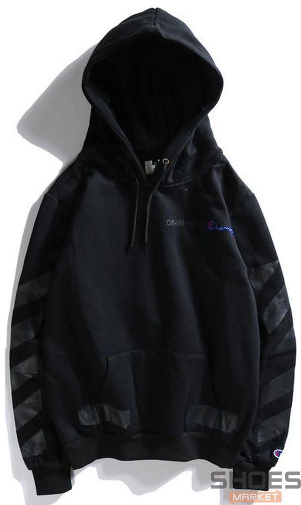 077dcb5b9ba6 Худи Off-white x Champion Black (ориг.бирка), цена 1 125 грн ...