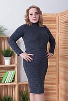 """Платье-гольф из ангоры """"Crystall"""": батал, фото 1"""