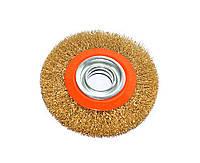Щетка кольцевая (дисковая) Polax 150х32 мм для УШМ рифленая проволока (54-078)