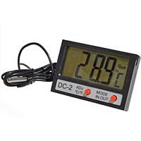 Термометр цифровой с выносным датчиком  DС-2 гигрометр метеостанция
