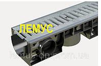 Комплект: Лоток пластиковый водоотводный  H120 с оцинкованной решеткой