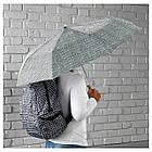 Зонт IKEA KNALLA складной черный белый 303.304.95, фото 2