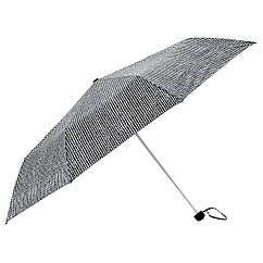 Зонт IKEA KNALLA складной черный белый 303.304.95