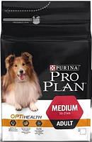 Сухой корм Про План (Pro Plan) для собак средних пород, c курицей и рисом  14КГ