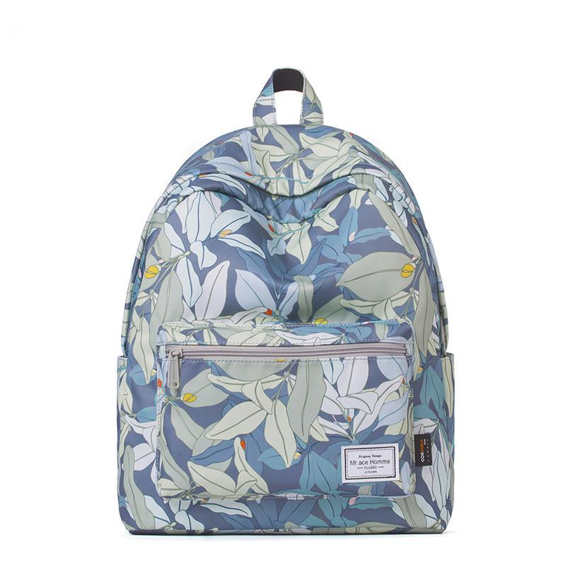 Голубой рюкзак с цветами от Mr.ace Homme