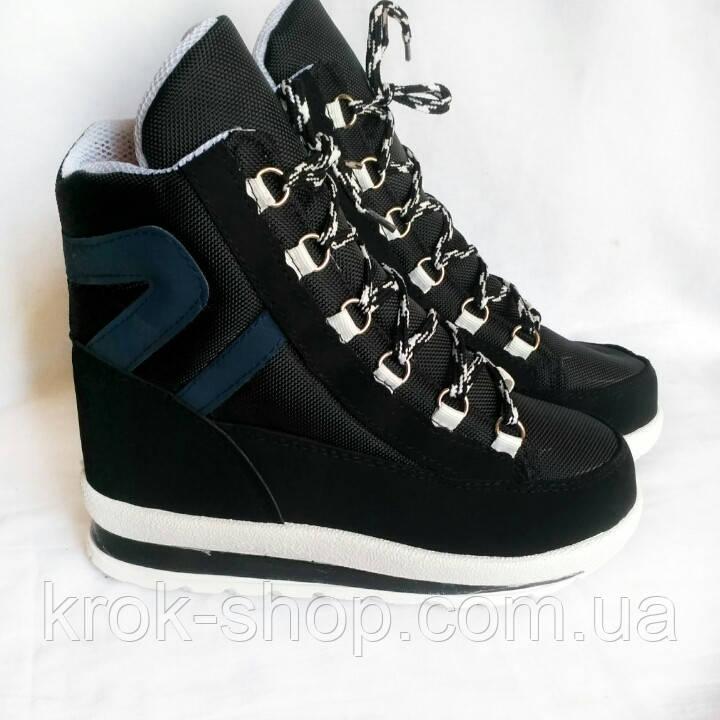 Ботинки женские зимние на шнуровке оптом