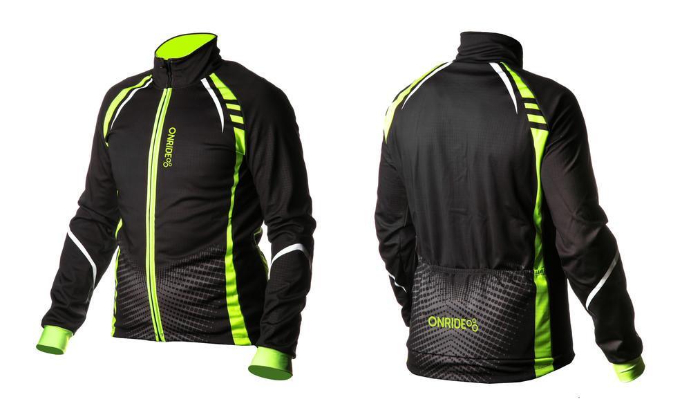 Велокуртка ONRIDE BARK чорний/зелений XL