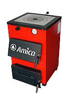 Твердопаливний котел Amica Optima 18 кВт (сталь 3 мм) с плитой