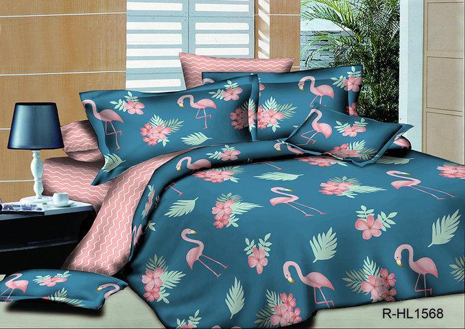Постельный комплект  Фламинго из ранфорса