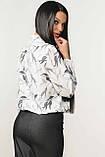 Блуза Кенді колір білий листочки Ри Марі, фото 3