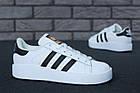 Женские кроссовки adidas Superstar Bold White (в стиле Адидас Суперстар) белые, фото 3