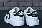 Женские кроссовки adidas Superstar Bold White (в стиле Адидас Суперстар) белые, фото 7