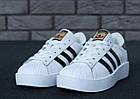 Женские кроссовки adidas Superstar Bold White (в стиле Адидас Суперстар) белые, фото 8