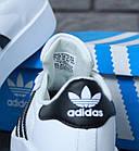 Женские кроссовки adidas Superstar Bold White (в стиле Адидас Суперстар) белые, фото 9