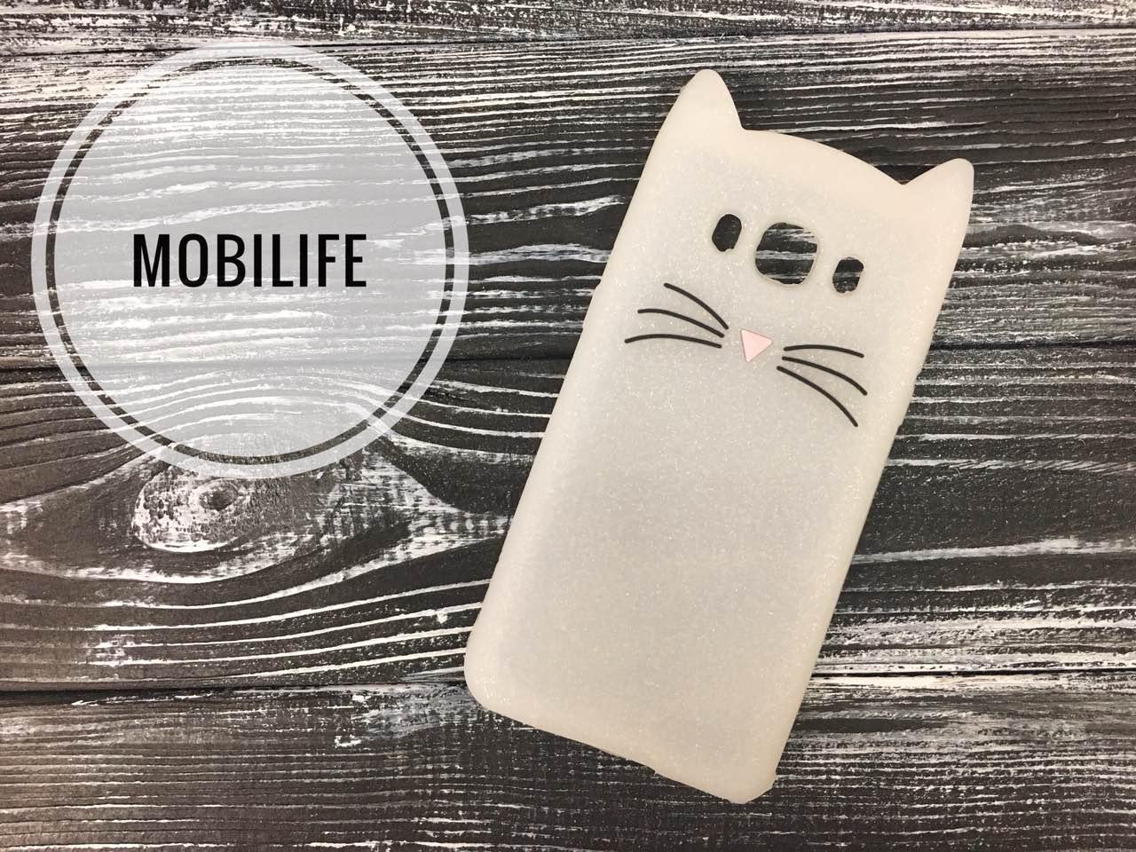 Чехол Meizu M5C Кошка 3D White