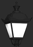 Светильник Опора наружного освещения парковая S-31/W (A) ROSA   высота 3,32m система 1  и светильник OS-1 E27, фото 2