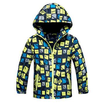 """Детская куртка для мальчика на флисе """"Спорт"""" салатовый"""