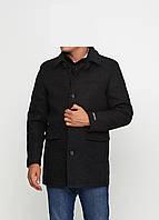 Мужское демисезонное пальто Man's Wear (50) черный P-158c