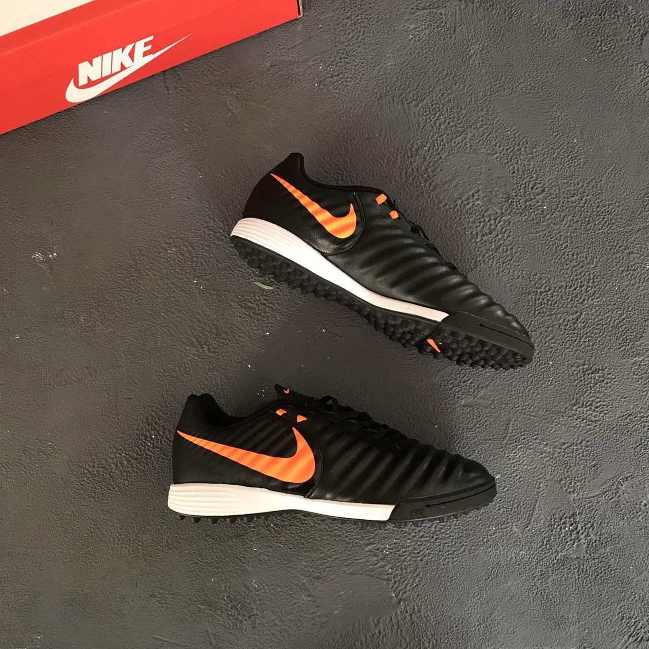 7e0c72e8 Сороконожки Nike Tiempo Legend VII Academy TF - Black/Pure Platinum/Light  Crimson