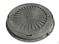 Люк смотровых колодцев полимерный круглый 3т (черный)
