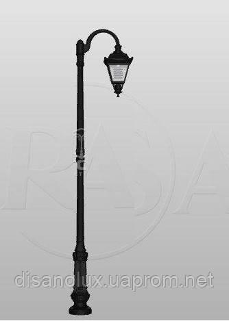 Светильник Опора наружного освещения парковая S-31/W (A) ROSA   высота 3,32m система 1  и светильник OS-1 E27