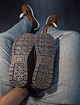 Мужские высокие кроссовки черно-коричневые, фото 3
