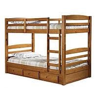 """Двухъярусная кровать """"Лео"""" из массива"""