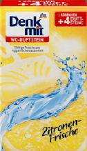 Туалетный блок Denkmit WC-Reiniger Duftstein Zitronen-Frische, 4 шт