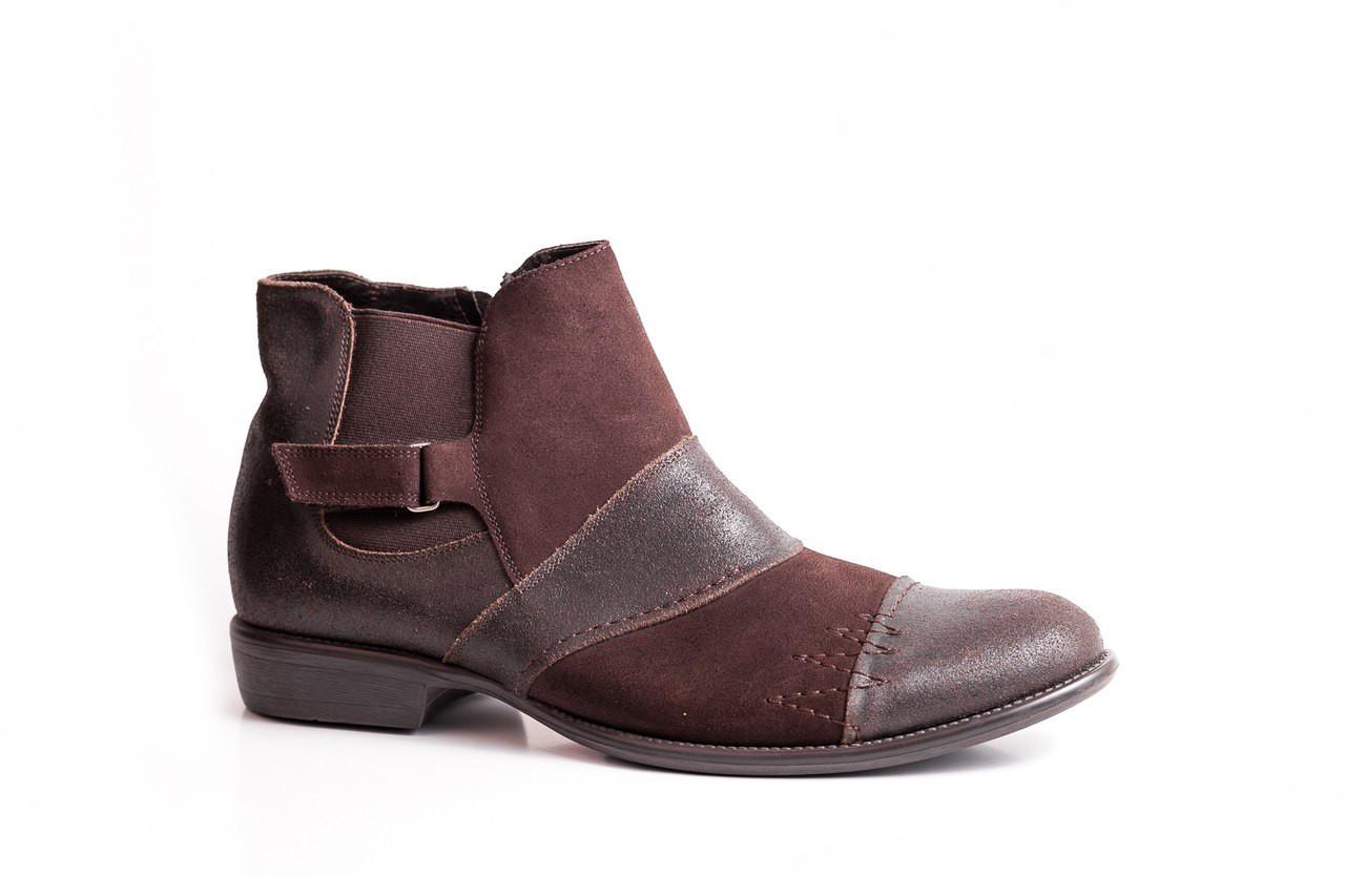 Остання пара - 44 розмір! Зимові чоловічі черевики коричневого кольору