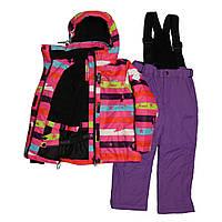 Детский зимний мембранный термокомбинезон для девочки от 3-х до 6 лет  DISUMER (SNOWEST)