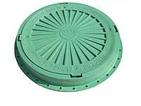 Люк смотровых колодцев полимерный круглый 3т (зеленый)
