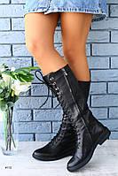 Женские сапоги на шнуровке, фото 1
