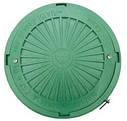 Люк смотровых колодцев полимерный круглый 3т (зеленый), фото 3